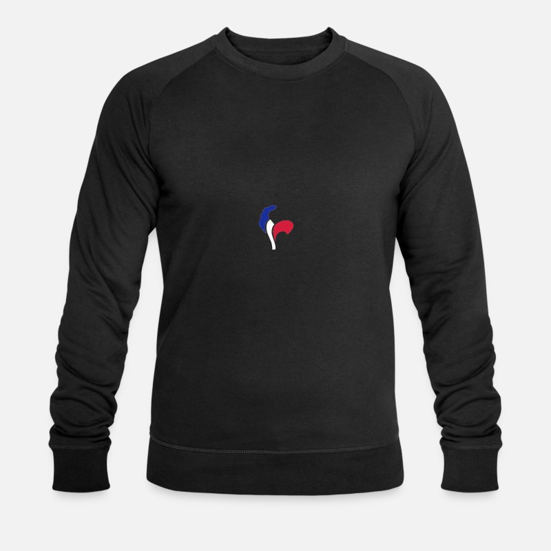 Rooster Hoodies & Sweatshirts - cock-France - Men's Organic Sweatshirt black
