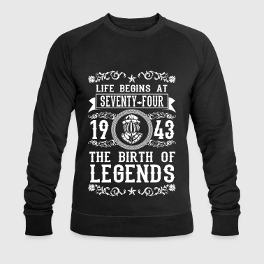 1943 - 74 years - Legends - 2017 - Sweat-shirt bio Stanley & Stella Homme