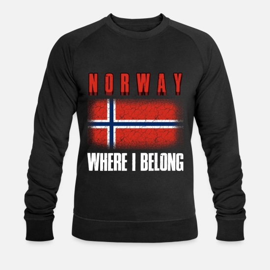 Oslo Sweat-shirts - Norvège - Sweat-shirt bio Homme noir