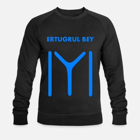 Ertugrul Hoodies & Sweatshirts - Ertugrul Bey - White Kayi Flag - Ottoman Empire - Men's Organic Sweatshirt black