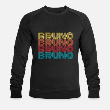Name Day Bruno name name first name name day gift - Men's Organic Sweatshirt by Stanley & Stella
