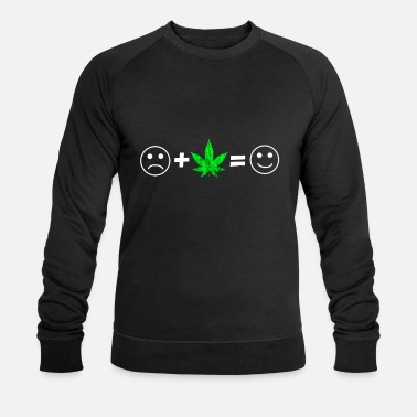 Intoxicated Cannabis leaf weed intoxication pothead smoking - Men's Organic Sweatshirt by Stanley & Stella