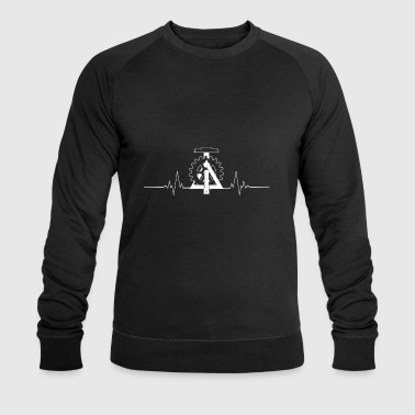 Engineer civil engineer heartbeat gift - Men's Organic Sweatshirt by Stanley & Stella