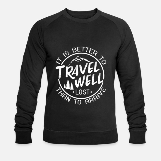 Travel Hoodies & Sweatshirts - Travel vacation - Men's Organic Sweatshirt black