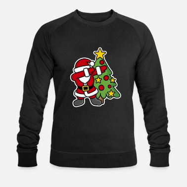 Santa Dabbin' around the Christmas tree - Mannen bio sweatshirt van Stanley & Stella