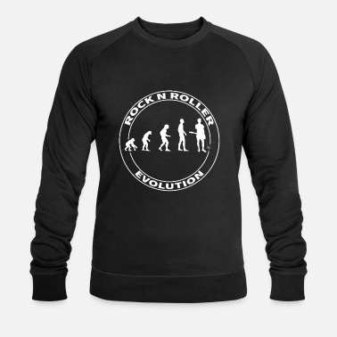 Rock N Roll Evolution Rocker Rock n Roller Rockn Roll - Økologisk sweatshirt mænd