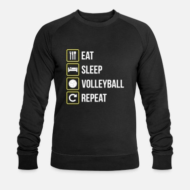 Volley Eat Sleep Volleyball Repeat - Männer Bio-Sweatshirt von Stanley & Stella