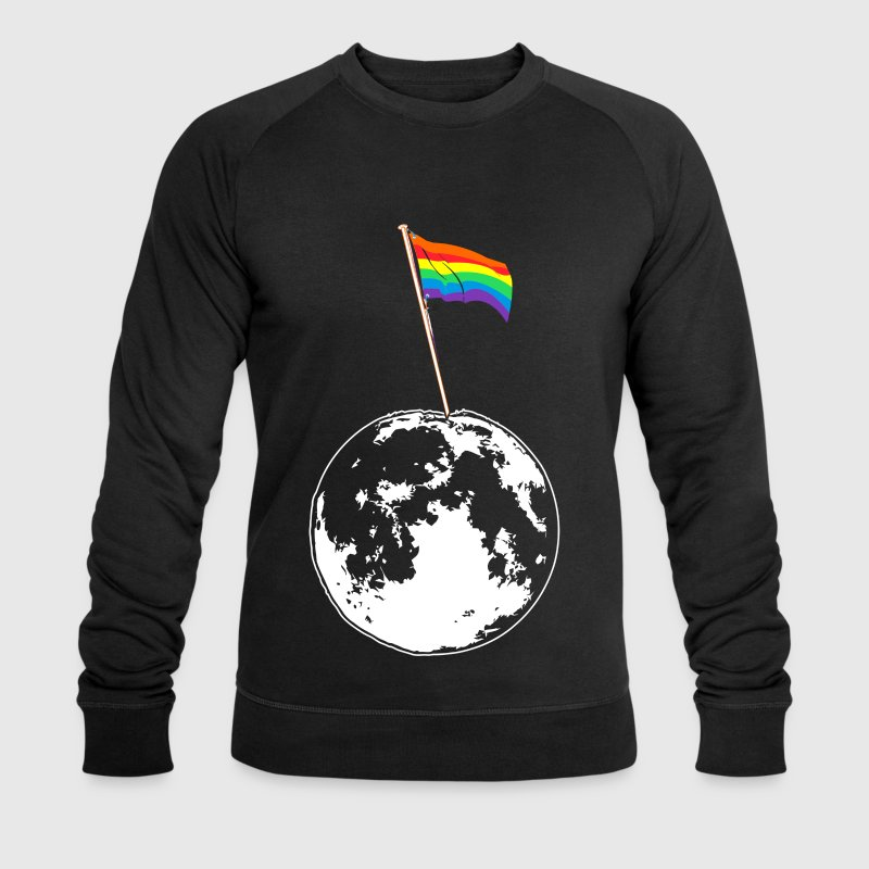 Gay Flag on Moon - EN - Männer Bio-Sweatshirt von Stanley & Stella