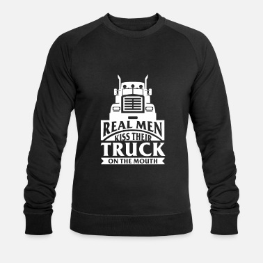 Funny Diesel Real Men Kiss Their Truck On Mouth - Men's Organic Sweatshirt by Stanley & Stella