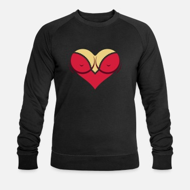 Cleavage Heart-shaped Woman's Breasts With Deep Cleavage - Men's Organic Sweatshirt by Stanley & Stella