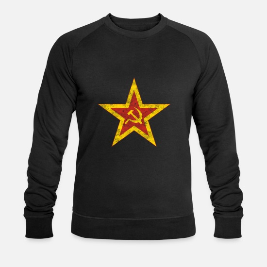 Russie Sweat-shirts - Etoile Rouge Communiste Rétro - Sweat-shirt bio Homme noir