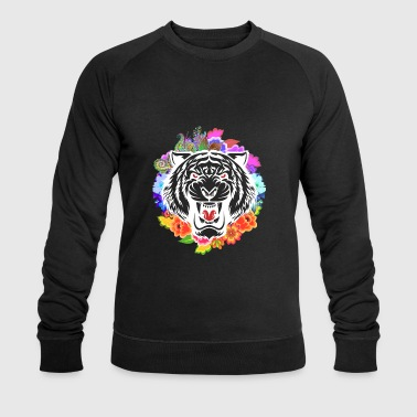 Tiger head flowers - Men's Organic Sweatshirt by Stanley & Stella