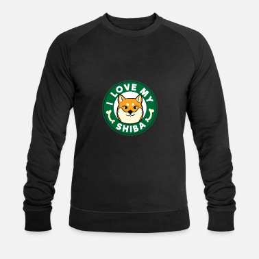 Starbucks Shiba Inu Dog Coffee Cafe Star Buck Gift - Men's Organic Sweatshirt by Stanley & Stella