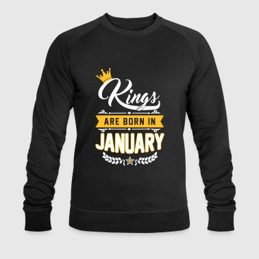 January Kings are born in January - Geburtstag - Löwe - Men's Organic Sweatshirt by Stanley & Stella
