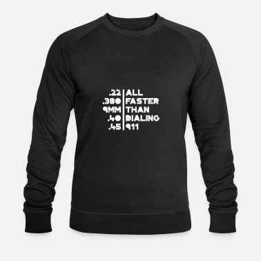 Caliber Gun Calibers gift for Gun Enthusiasts - Men's Organic Sweatshirt