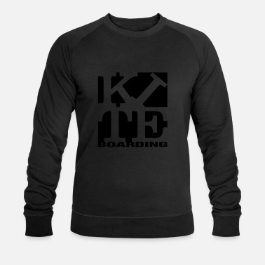 Boarding kite homage to robert Indiana boarding black - Men's Organic Sweatshirt by Stanley & Stella