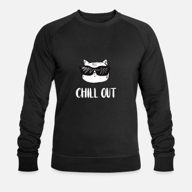 Chilli Chill out cat - Männer Bio-Sweatshirt von Stanley & Stella
