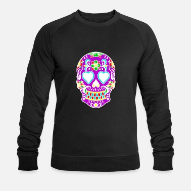 Skull Rainbow Flower Skull Art Design - Sweat-shirt bio Stanley & Stella Homme