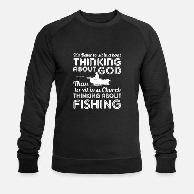 Lure Boat god angler fisherman fishing fish gift - Men's Organic Sweatshirt by Stanley & Stella