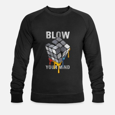 Rubik's Cube Blow Your Mind - Men's Organic Sweatshirt by Stanley & Stella