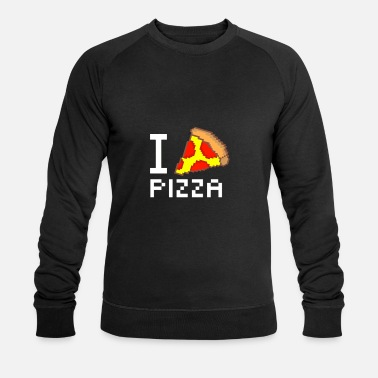 16 Bit I love pizza 16 bit - Men's Organic Sweatshirt by Stanley & Stella