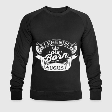 Legends august Bursdag - Økologisk sweatshirt for menn fra Stanley & Stella