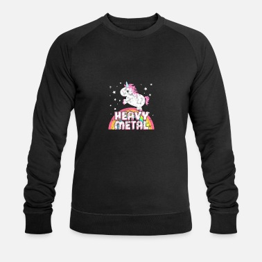 Iron Metal Cool Ironic Heavy Metal Music Unicorn - Men's Organic Sweatshirt by Stanley & Stella
