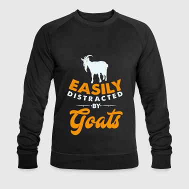 Distracted Easily distracted by Goats distracted by goats - Men's Organic Sweatshirt by Stanley & Stella