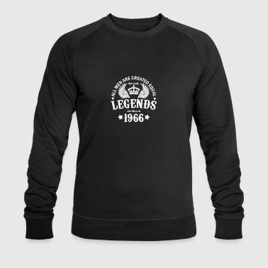 Only Legends Are Born in 1966 - Men's Organic Sweatshirt by Stanley & Stella
