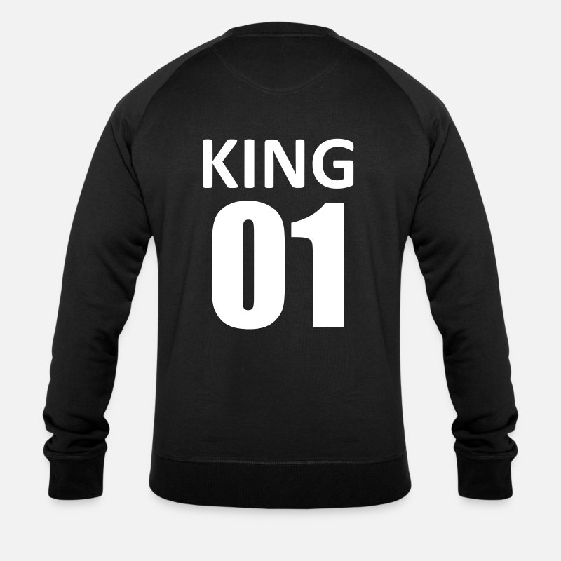 Homme Sweat-shirts - king 01 - Sweat-shirt bio Homme noir