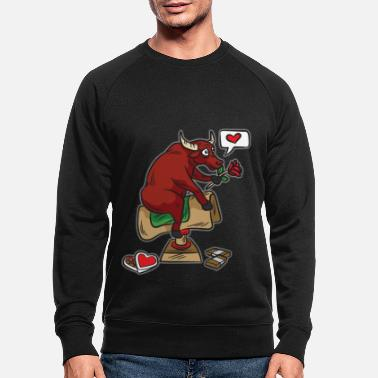 Mechanical bull bull ride love funny - Men's Organic Sweatshirt