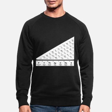 Pythagorean Pythagorean theorem Periodic Table of the Elements - Men's Organic Sweatshirt