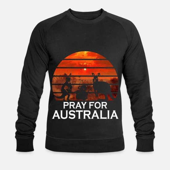 Rain Hoodies & Sweatshirts - Pray for Australia - Pray for Australia - Men's Organic Sweatshirt black