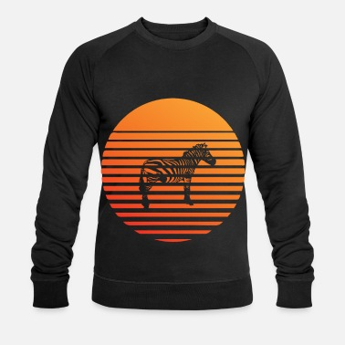 South America Zebra silhuette in the sunset - Men's Organic Sweatshirt