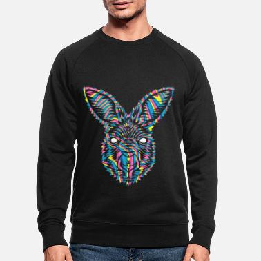 India Goa Trance Psychedelische Tiere Esel Goa India - Männer Bio Pullover