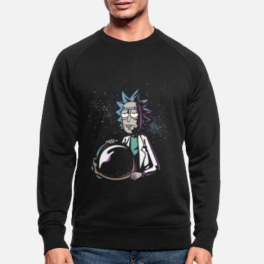 Rick and Morty Astronaut Helmet - Men's Organic Sweatshirt