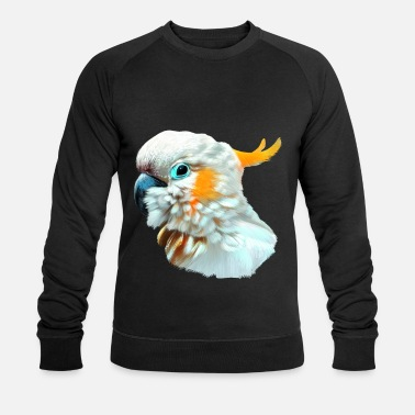 Gris Oiseau cacatoès - Sweat-shirt bio Homme
