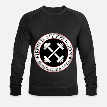 fitness religion - Men's Organic Sweatshirt
