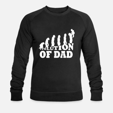 Evolution Father Dad gift for expectant dad dad - Men's Organic Sweatshirt