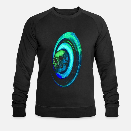 Galaxie Sweat-shirts - Crâne crâne galaxie galaxie univers espace - Sweat-shirt bio Homme noir