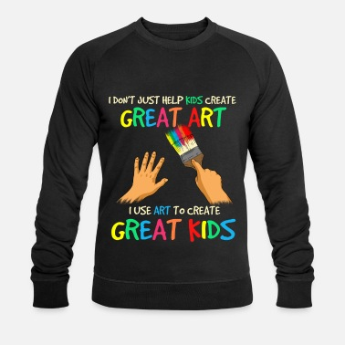 Grade Create Great Kids Art Teacher Preschool Teacher - Men's Organic Sweatshirt