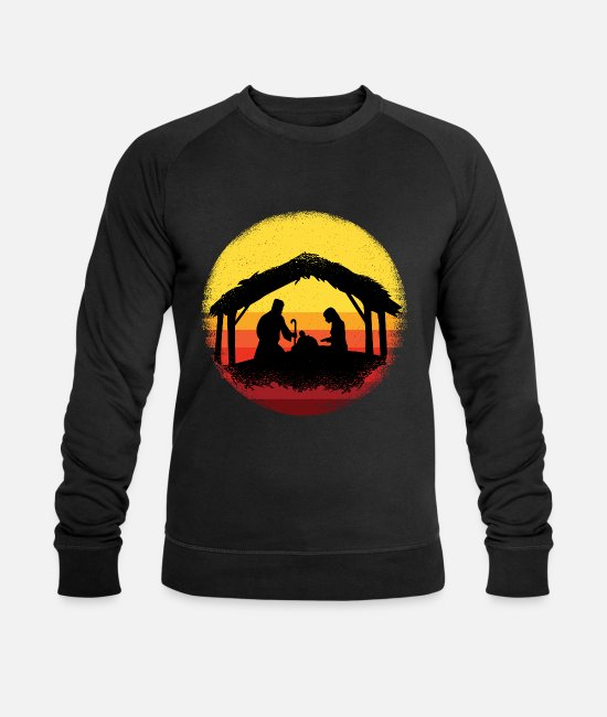 Christians Hoodies & Sweatshirts - Jesus birth in the stable in Nazareth - Men's Organic Sweatshirt black