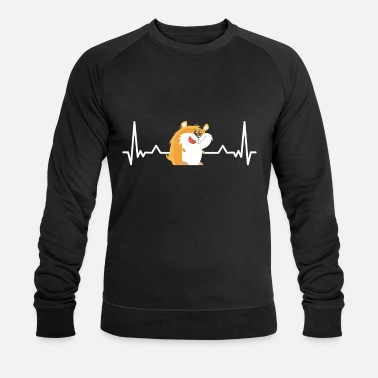 Youth Funny cute Hamster Heartbeat Animal Gift - Men's Organic Sweatshirt