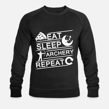 Eat Sleep Archery Repeat - Sudadera orgánica hombre