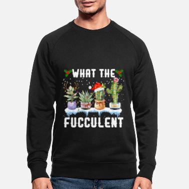 What The Fucculent Christmas Lights T Shirt - Männer Bio Pullover
