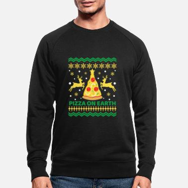 Pizza On Earth, Ugly xmas, Christmas, x-mas - Økologisk sweatshirt mænd