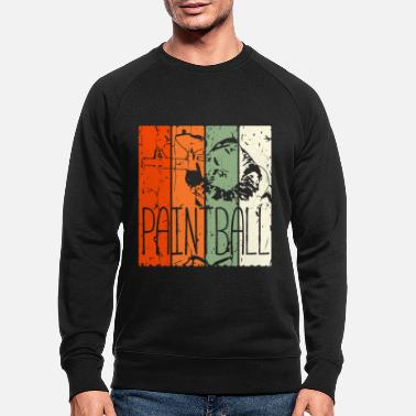 Painter Paintballer Vintage Paintball Airsoft Retro Sport - Men's Organic Sweatshirt