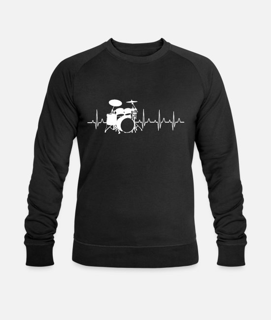 Drumsticks Hoodies & Sweatshirts - Drummer drums band musician gift - Men's Organic Sweatshirt black