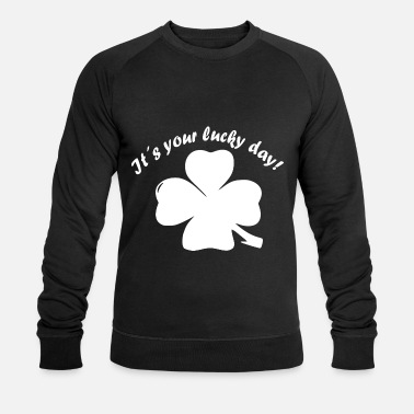 New Years Day Shamrock, Lucky Day, New Year, New Year's Eve - Men's Organic Sweatshirt