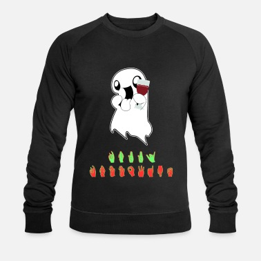 Sign Language Halloween costume Happy Hallowine sign language - Men's Organic Sweatshirt